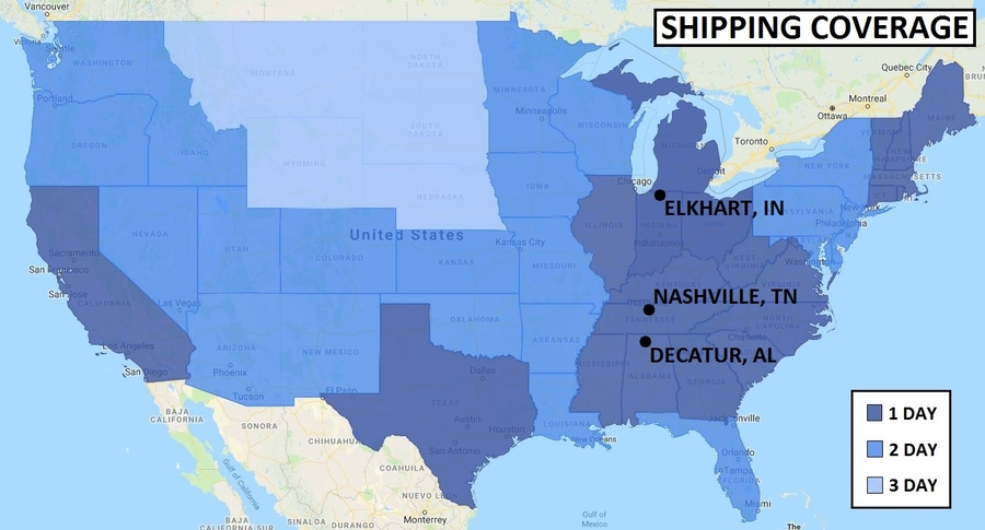 EFP Shipping Coverage